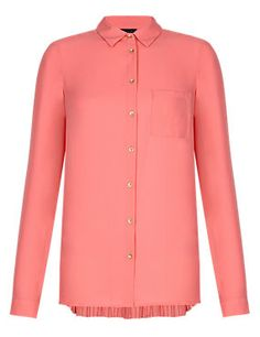Pale Pink Rear Pleated Blouse