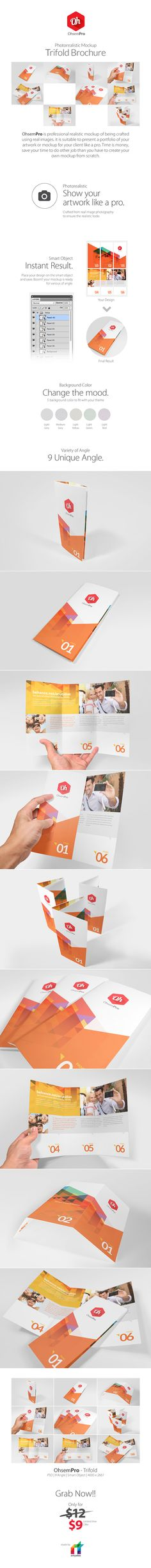 OhsemPro - Trifold Mockup on Behance