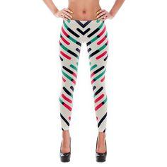 Color Lines Print Leggings