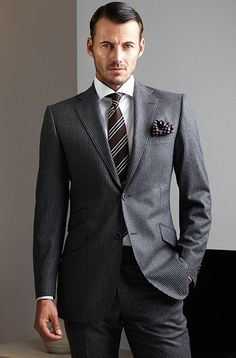 Suits & Ties Fashion Menswear Collection , New trends and luxury details that make a difference Gentleman Mode, Gentleman Style, Dapper Gentleman, Look Formal, Men Formal, Sharp Dressed Man, Well Dressed Men, Costume Gris, Mens Fashion