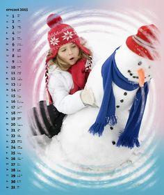 Fotokalendarz szablon Tęczowy