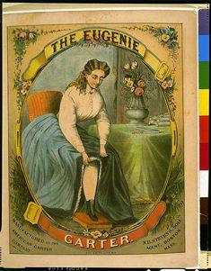 The Eugene Garter (#Fashion) 1840-1890 | #Vintage Public Domain Pictures