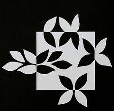 Quilt Inspiration: Notan Snowflake quilt xxx