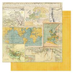 Heidi Swapp - Vintage Chic Collection - 12 x 12 Double Sided Paper - Worldwide at Scrapbook.com