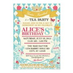 alice in onederland party - Google Search