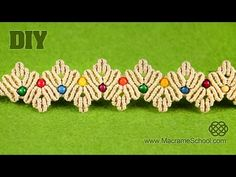 ZigZag Macrame Petal Bracelet Tutorial - YouTube
