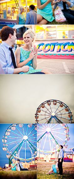"""Oh, this makes me want to shoot an engagement session at the fair!  Or an anniversary or """"just because"""" couples session.  Isn't it cool?"""