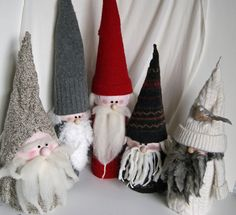 gnomes made from TP rolls and aluminum foil balls
