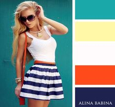 Alina Babina color palettes Colour Combinations Fashion, Color Combinations For Clothes, Fashion Colours, Colorful Fashion, Color Combos, Color Harmony, Weekend Style, Color Trends, Simple Style