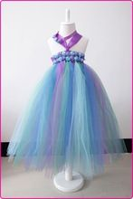 rainbow color tutu dress for baby girls with purple bow notBaby Christmas Dresses Christening Dress Children Holiday Clothing(China (Mainland))