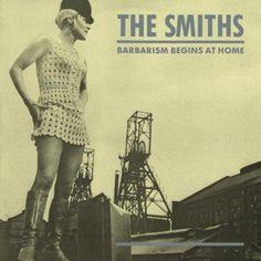 The Smiths - Barbarism begins at home, design de capa: Morrissey e Joe Slee (1985), foto de Viv Nicholson (ganhadora da loteria)