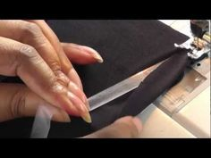Sewing with Clear Elastic - create a thread tail to pull elastic under the sewing foot - mindblown!