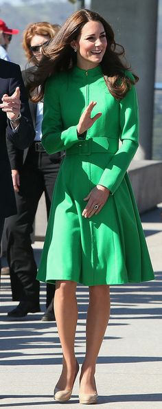 Catherine, Duchess of Cambridge, wearing Catherine Walker in Canberra, Australia, 24 April 2014