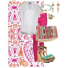 Indian colors by roxcherie on Polyvore