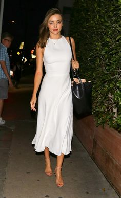 Classy Outfits, Chic Outfits, Spring Outfits, Dress Outfits, Fashion Dresses, 80s Fashion, Fashion Trends, Miranda Kerr Outfits, Miranda Kerr Style