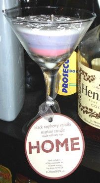Black Raspberry Vanilla Martini Candle