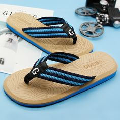 Gienig 2018 nieuwe herenslippers flip flops heren met de zomer plateau sandalen Strand slippers herenhuis slippers strand slippers Flip Flops, Slippers, Half, Strand, Sandals, Shoes, Fashion, Moda, Shoes Sandals