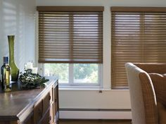 Control Light With Wood Blinds