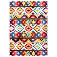 Multicolor Abstract Woven Area Rug - (5'x8') - nuLOOM,