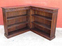 French Antique Bookcase Corner Bookcase Display Cabinet Antique Furniture