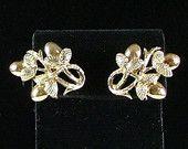 CORO Gold Tone Clip On Earrings