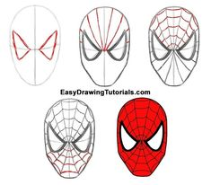 How to Draw Spider-Man Spiderman Sketches, Drawing Superheroes, Marvel Drawings, Cartoon Drawings, Easy Drawings, Spider Drawing, Drawing Drawing, Spiderman Craft, How To Draw Spiderman