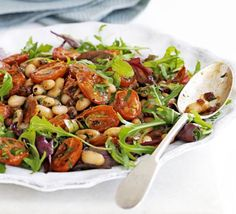 Cannellini bean salad. Another tasty yet healthy and easy win!