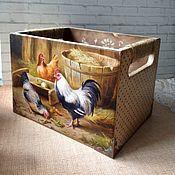 Короба для хранения дерево Птичий двор кухня кантри декупаж Chicken Painting, Chicken Art, Painting On Wood, Decorative Painting Projects, Scrap Wood Projects, Barn Wood Crafts, Pintura Country, Country Crafts, Wooden Crates