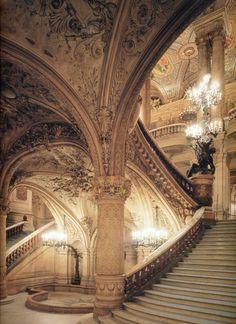 Stairway, Opera Garnier, Paris by Charles Garnier