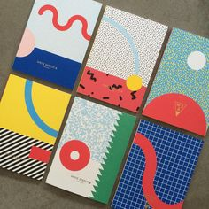 We're one of the first stores in the U. to carry these great dual-cover notebooks from Milan's Game Design, Notebook Cover Design, Notebook Covers, Print Design, Web Design, Memphis Design, Design Graphique, Graphic Design Inspiration, Editorial Design