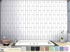 These modern tile walls have a slight glossy effect added to produce a nice shine/sheen to them, they are a nice addition to your modern builds, and the soft colors pair nicely with most floor...