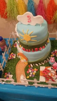 Peppa Pig Cake Pig Party, Baileys, Peppa Pig, 3rd Birthday, Cake, 3 Year Olds, Kuchen, Torte, Cookies