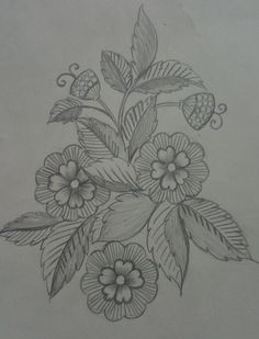 The Latest Trend in Embroidery – Embroidery on Paper - Embroidery Patterns Zardozi Embroidery, Floral Embroidery Patterns, Paper Embroidery, Hand Embroidery Patterns, Blouse Patterns, Hand Embroidery Projects, Hand Embroidery Videos, Embroidery Techniques, Basic Sketching