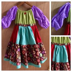 Boho Peasant Dress size 5t by SewMeems on Etsy