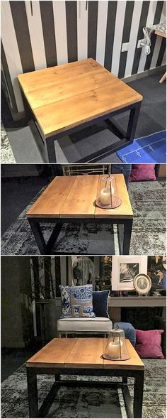 This table is simply a chic and modern furniture manifestation. Here the wood pallet coffee table designing has been carried out that is looking so modern and stylish with the designs to add in your house right now! See the image and get some help!