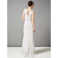 Buy Phase Eight Bridal Kiera Tapework Wedding Dress, Cream Online at johnlewis.com