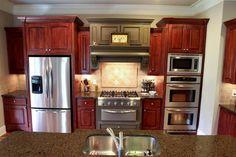 beautiful cherry wood kitchen