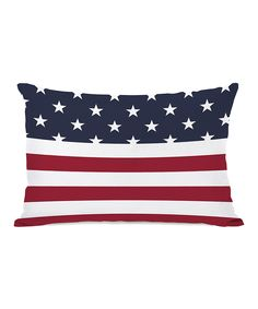 Loving this American Flag Section Throw Pillow on #zulily! #zulilyfinds
