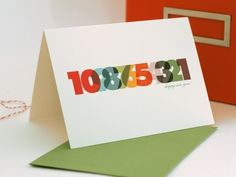 Happy New Year #card #numbers