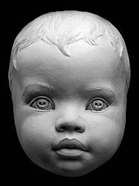 Mask of Infancy: Aging reference for a baby by Philippe Faraut http://philippefaraut.com/store/art-reference-casts/sculpting-aging-process-infant.html