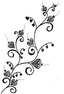 pinterest henna simple floral lace template - Google Search