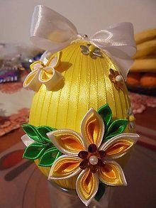 Dekorácie - Veľkonočné vajíčko s kvietkami 10 - 6329043_