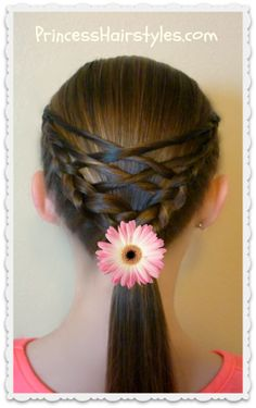 Woven twist ponytail hairstyle