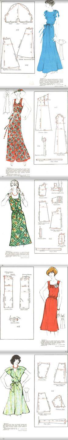 Mejores 407 imágenes de Vestidos Moldes en Pinterest | Dress ...