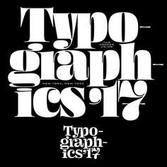 "146 Likes, 6 Comments - Typographics (@typographicsnyc) on Instagram: ""Our friend James from @ohnotypeco prepared some designs for our Typographics '17 shirts, including…"""