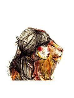 El león de Paula Bonet · Tienes más ilustraciones de Paula Bonet aquí: www.gnomo.eu/paulabonet