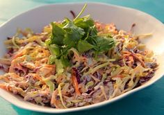 Asian Food Network (AFN) is the world's home of Asian Recipes & Cuisine. Discover authentic asian recipes, asian travel guides on Asian Food Network. Easy Salad Recipes, Easy Salads, Summer Salads, Healthy Recipes, Healthy Salads, Asian Coleslaw, Asian Slaw, Easy Chinese Recipes, Asian Recipes