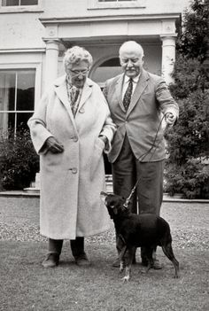 Agatha Christie and Max Mallowan, her second husband, with their dog Bingo at Greenway, #Dartmouth #Devon www.bythedart.co.uk
