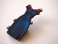 Blue and Red Paper Doll Dress Laser Cut Wood by HungryDesigns