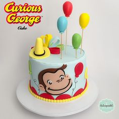 Torta Jorge El Curioso - Curious George Cake - cake by - CakesDecor 2nd Birthday Party Themes, Second Birthday Ideas, Baby Boy 1st Birthday, First Birthday Parties, First Birthdays, Curious George Cakes, Curious George Party, Curious George Birthday, Cakes For Boys